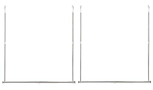 STORAGE MANIAC 2-Pack Hanging Closet Rod, Width Adjustable, Height Fixed, Space-Saving Clothes Hanging Bar, Chrome