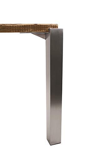 KTC Tec Tischbein Edelstahl TBE Quadratrohr TBE1 50x50mm eingelassen Tischfuß versenkt Wohnzimmertisch Esstisch Esszimmertisch