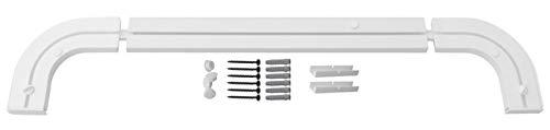 1-2- läufig Gardinenschiene Vorhangschiene Set Vorgebohrt mit Rundbögen und Montagezubehör 90cm 1-läufig Gardinenschiene