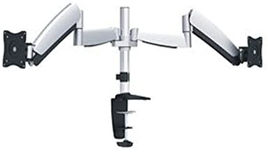 Ergotech One Touch Dual Monitor Arm - Silver