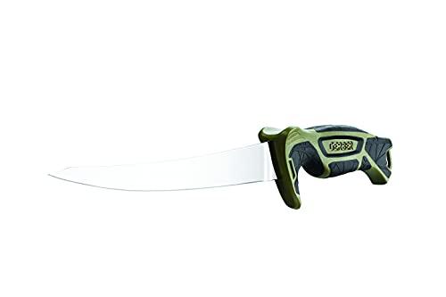 """Gerber Controller 8"""" Freshwater Fish Fillet & Boning Knife & Sheath with Built In Sharpener [31-003340],Green/Black"""
