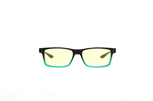 Gunnar Gaming- und Computerbrille | Cruz (age 12+) | Onyx-teal Rahmen, Amber Linse | Patentierte Linse, 65% Blaulicht- & 100% UV-Lichtschutz