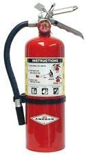 Amerex 5 Pound Stored Pressure ABC Dry Chemical 2A:10B:C Multi-Purpose Fire Extinguisher For Class A, B And C Fires W...