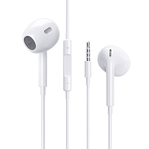 Auriculares In Ear, Aislamiento de Ruido, Graves potentesAuriculares con Cable y Micrófono Headphone Sonido Estéreo para Huawei, XiaoMi, MP4 Android y Todos los Dispositivos de 3,5 mm