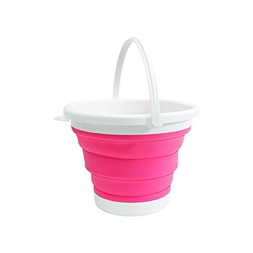 (エーアンドアイ)折りたたみバケツ おしゃれ シリコン ソフト コンパクト 最大 3L アウトドア 洗車 洗濯 お風呂 K250-235(1つ ピンク)