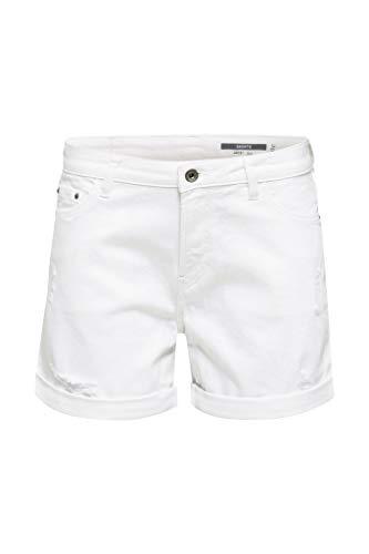 edc by Esprit 030CC1C308 Shorts Damen, Weiß (100/WHITE), 32