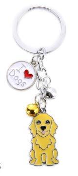 Dog Shaped Key Ring/Key Chain/Bag Charm - Molly