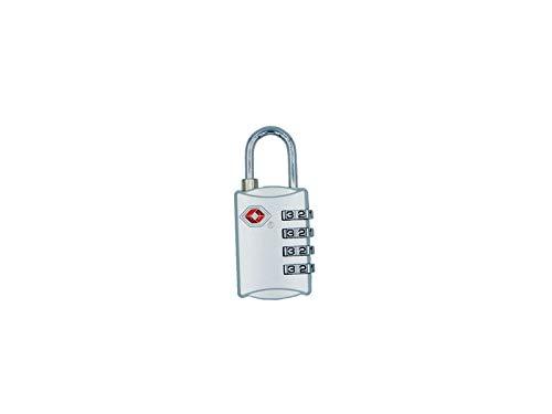 Logic(ロジック) TSA対応 4桁 ダイヤル式 南京錠 (シルバー) フック型 鍵 [郵便受け/スーツケース/旅行] シンプル 小型 ダイヤルロック