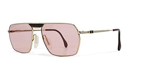 Zeiss 5971 4100 Gold Vintage Sonnenbrille rechteckig für Damen und Herren