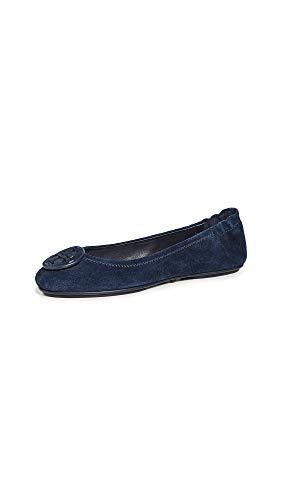 Tory Burch Women's Minnie Travel Ballet Flats, Perfect Navy/Perfect Navy, Blue, 6.5 Medium US