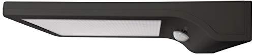 LED Solarleuchte mit integriertem Bewegungs- und Dämmerungssensor, Schutzart IP44, schwarz