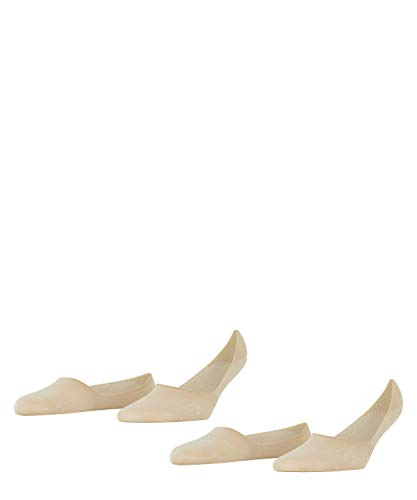 Burlington Everyday Invisible Double Pack Calcetines, Beige (Sand 4320), 4/7/2019 (Talla del Fabricante: 41-42) 2 para Mujer