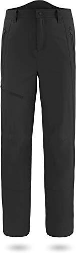 normani Herren Fleecehose Winter Softshellhose wattierte, Wind- und wasserdichte Skihose Trekkinghose Farbe Schwarz Größe M/50