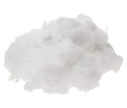 1 kg Ovatta Sintetica Bianca per Imbottitura Cuscini Peluche bomboniere Fiocchi Bambole Pupazzi Confezionamento Bomboniere, Scatoline , Lavoretti per la scuola in Poliestere