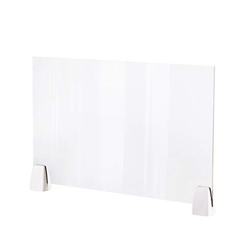 Parete Divisoria in Plexiglass Protettiva Pannello,Divisorio,Paravento,50X32cm Pannello di Protezione per Scrivania in Plexiglass Trasparente per Uffici,Negozi e Supermercati (1PC)