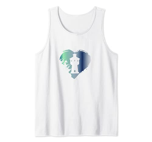 Langeoog - Torre de agua en el corazón Camiseta sin Mangas