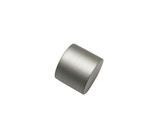Gardinia Endstück, 2 x Endkappe, Metall,Silber, für Gardinentechnik Ø 19 mm