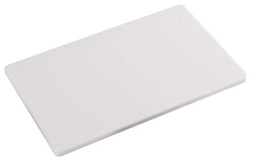Kesper 30141 HACCP Schneidebrett Kunststoff Gastronorm 1/2, 32,5 x 26,5 x 1,5 cm, weiß