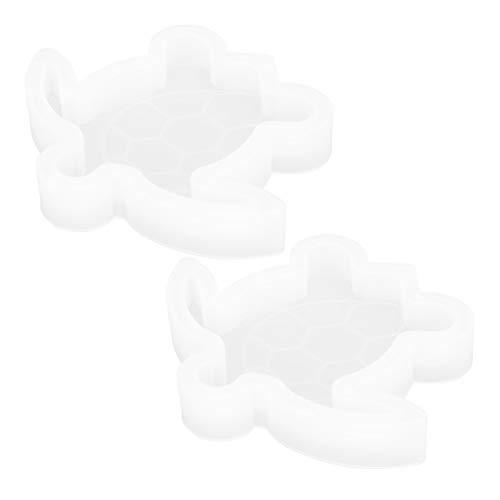 Pssopp 2 Piezas de moldes de Resina de Animales moldes de Resina epoxi de Silicona de Tortuga Juguetes de Cuidado de niños moldes de Silicona de Animales Lindos para Manualidades Hechas a Mano