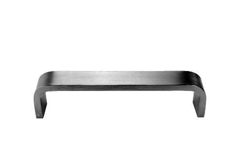 Don-Jo 32 massive Stangen-Flachstangen-Türzug mit Durchgangslöchern, rechteckig, seidenmatt eloxiertes Aluminium, 25,4 cm Mitte-zu-Mitte, 5,1 cm Projektion, 1-5/20,3 cm Abstand