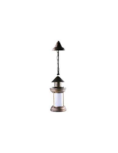 Lámpara de techo, tipo farol LED, 5 W, bronce, E27, color blanco cálido 1300 K