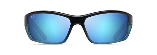Maui Jim unisex adult Barrier Reef Sunglasses, Blue W/Turquoise/Blue Hawaii Polarized, Medium US