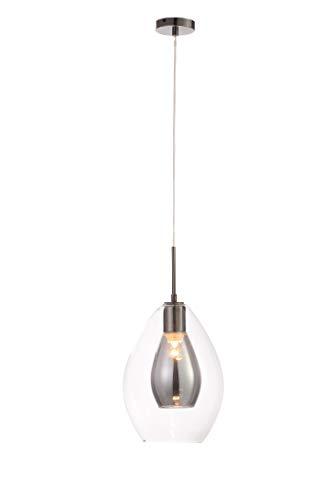 Illuminate Calabar-Lámpara de techo colgante (cristal, Ahumado/Níquel, talla única