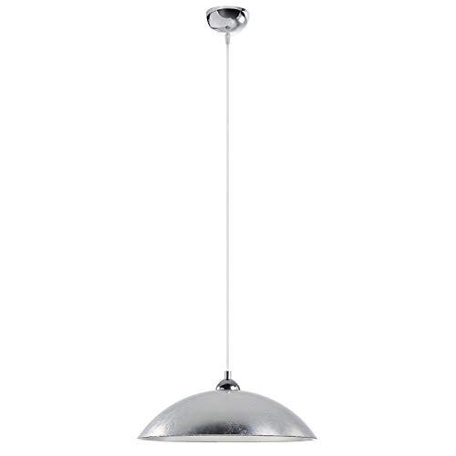 EXO Lighting - Hanglamp Alessandra staal met lampenkap kleur zilver diam. 44cm E27 max. 60W