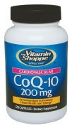The Vitamin Shoppe CoQ10 200mg Beneficial for Those Taking Statins – Supports Heart Cellular Health and Healthy Energy Production, Essential Antioxidant – Once Daily (120 Capsules)