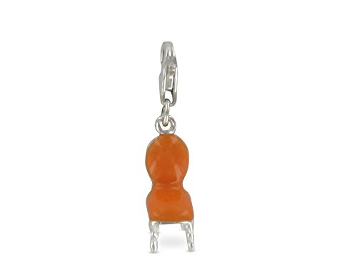 Pasionista Unisex-Anhänger Orange Stuhl 925 Sterling Silber 608044