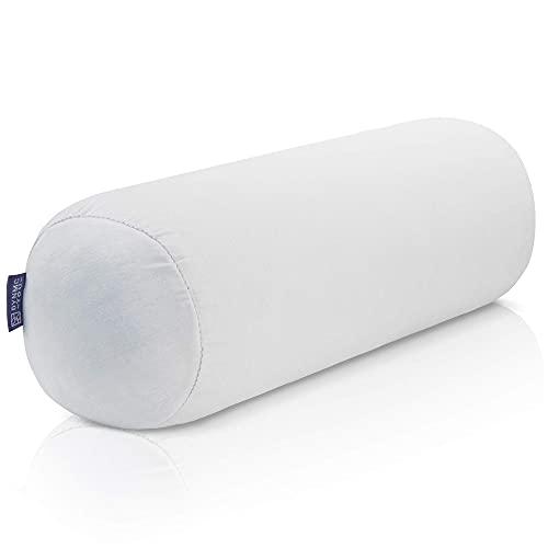 Cojín cervical con funda de bambú Oeko Tex, extra cómodo con copos de espuma viscoelástica como almohada cervical, almohada, cojín de sofá, pequeño cojín y almohada de viaje
