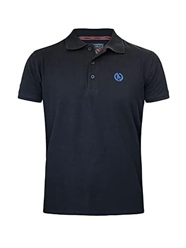 S&C - Polo a maniche corte, da uomo, vestibilità regolare Blu navy XL