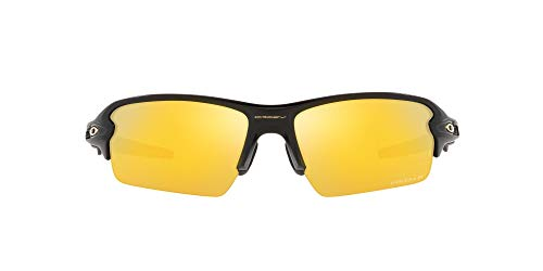 Oakley Men's OO9271 Flak 2.0 Asian Fit Rectangular Sunglasses, Matte Black/Prizm 24K Polarized, 61mm