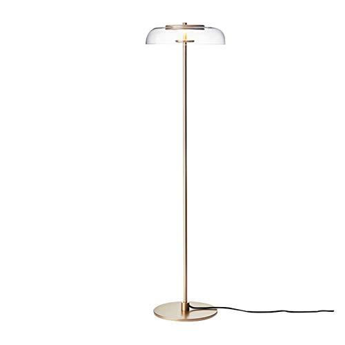 Taoyouzj Lámpara de Piso Lámpara de pie Luxury Living Room Room Room Sala de Estudio Simple Designer City Vibe All Copper Golden (Lampshade Color : Floor Lamp)