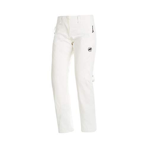 Mammut Scalottas Pantalon Hard Shell Isolant Femme, Bright White, FR : S (Taille Fabricant : EU 36)
