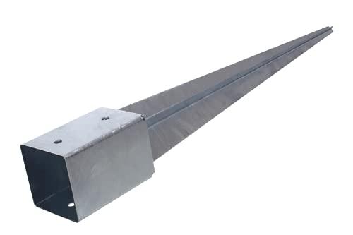 NAJDER Einschlagbodenhülse 45x45 mm / 600 mm Pfostenträger Einschlaghülse Boden getrieben Feuerverzinkung Verzinkung (45 x 45/600 mm)