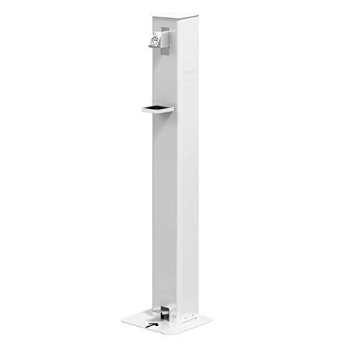 Dispensador Gel Desinfectante 1 litro - Sin Electricidad- Dosificador de Gel Hidroalcohólico, mediante presión del pie en el pedal inferior- Sin Contacto con Manos.
