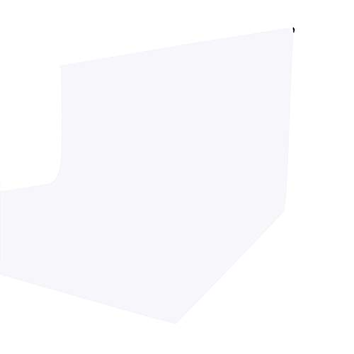 ISSUNTEX 6X9 ft Background Muslin Backdrop, Photo Studio, Collapsible High Density Screen for Video Photography and Television-White