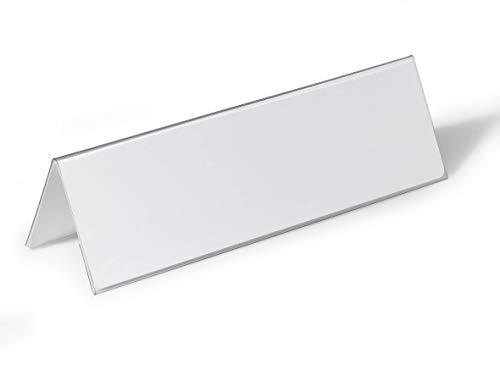 Durable 805319 Tischnamensschild (105/210x297 mm, transparent mit weißer Papiereinlage) 25 Stück