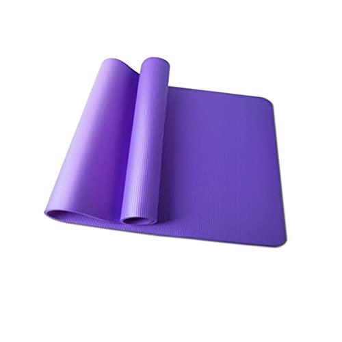 ZZRTEC Esterilla Deporte Antideslizante,TPE Esterilla De Yoga Y Alfombra Fitness, Adecuada para Pilates,AeróBic Yoga Y Gimnasia(183 × 61 × 1,0 Cm) Purple