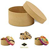 Better crafts Round Paper-Mache Box DIY Gift Box with Lid (Pack of 12) (Kitchen)