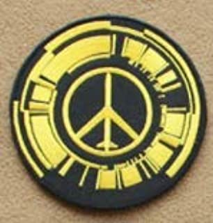 Peace Walker Logo Military Patch Fabric Embroidered Badges Patch Tactical Stickers for Clothes with Hook & Loop