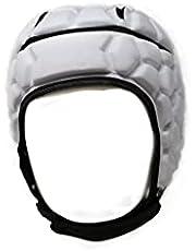 BARNETT Casco Heat Pro – Casco acolchado suave – Rugby – Bandera de fútbol – Talla 7 en 7 – 7 v7 – Protección contra caídas de cabeza epilepsia, rojo
