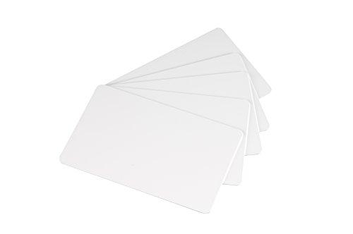 500 Blanko-Plastikkarten. Farbe: weiß von NOVO