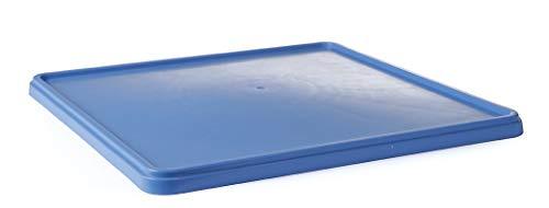 HENDI Deckel für Spülkorb, Spülmaschinenkorb, Geschirrspülkorb, Polypropylen, 500x500mm, blau