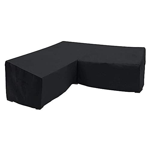Zoeay Funda De Sofá para Exteriores En Forma De L Oxford Impermeable,Anti-UV,Prueba De Polvo, Fundas De Sofá para Muebles De Exterior, Funda para Sofá De JardíN-300 * 300 * 98cm
