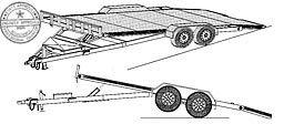 18HT Trailer Plan - 19'x82 Hydraulic Car Carrier 10.4k Trailer DIY How-to Blueprint