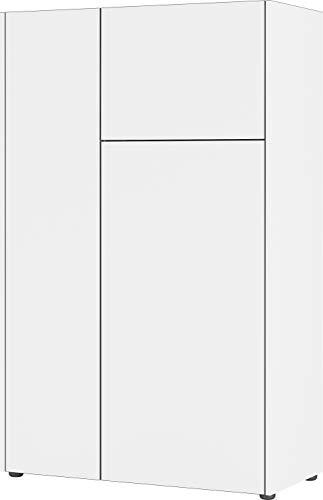 Germania 3423-550 GW Veluva Buffet Haut en Bois Blanc/Graphite 88 x 141 x 42 cm
