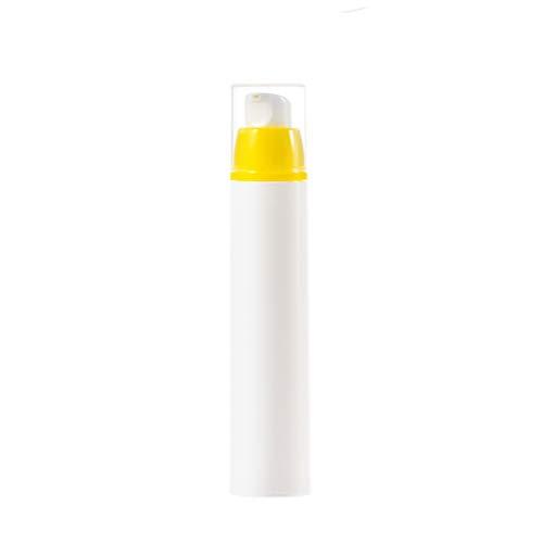 Zhou Bouteille de Lotion à Presser, Mise en Bouteille cosmétique - sous-biberon de Gel Douche sous Vide approuvé for Les Bagages à Main yan (Color : Yellow, Size : 2.5 * 8.2cm (15ml))