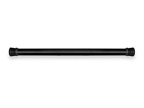 Mini asta telescopica, asta per tende senza punzoni, asta per tende a sospensione, ferrovia per il bagno, adatta per finestre di piccole dimensioni, bagno, armadio, ecc. (Nero) Life Stick, 70~120cm